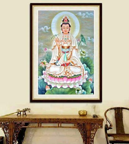 DIY Diamond Painting 5D. Dewi Guan Yim Di Teratai
