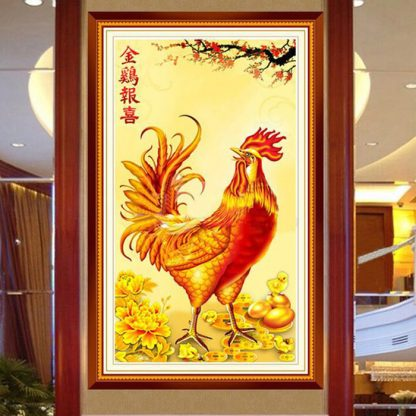 DIY Diamond Painting 5D. Ayam Bertelur Emas. Full Diamond 70x36 CM