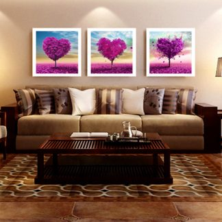 DIY Diamond Painting 5D. Tiga Pohon Love