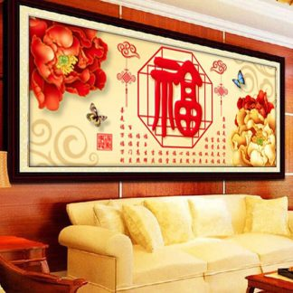 DIY Diamond Painting 5D. Rejeki atau hiasan chinese