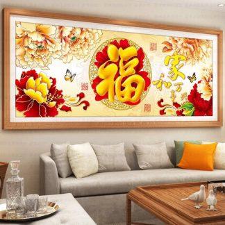DIY Diamond Painting 5D. keluarga harmonis rejeki ikan emas